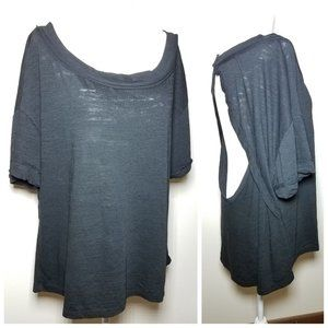 NWT|Free People Open Back Top